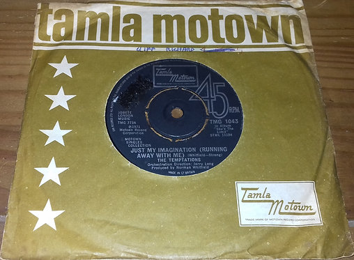 """The Temptations - Just My Imagination (Running Away With Me) / Get Ready (7"""", S"""