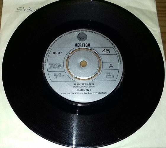 """Status Quo - Again And Again (7"""", Single, Pus) (Vertigo)"""