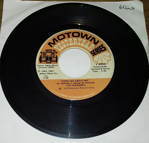 """The Supremes - Come See About Me / Love Is Like An Itching In My Heart (7"""") (Mot"""