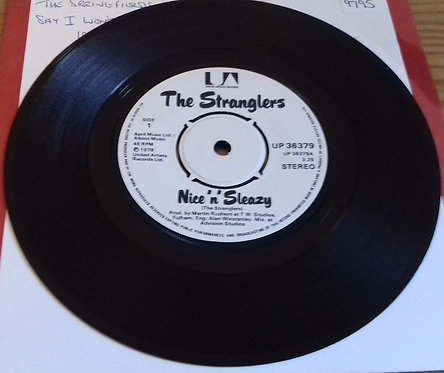 """The Stranglers - Nice 'N' Sleazy (7"""", Single, Pus) (United Artists Records)"""