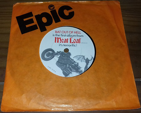 """Meat Loaf - Bat Out Of Hell (7"""", Single) (Epic, Cleveland International Records)"""