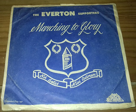 "The Everton Supporters - Marching To Glory EP (7"", EP) (Spider Records (14))"
