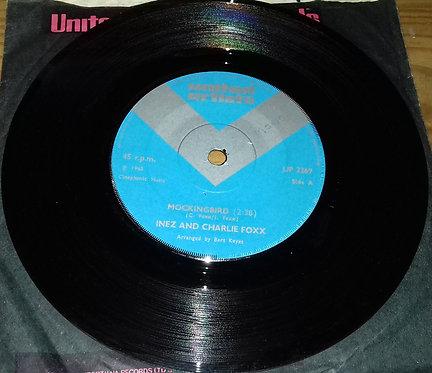 "Inez And Charlie Foxx - Mockingbird (7"", Single, Sol) (United Artists Records)"