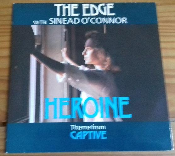 "The Edge With Sinead O'Connor* - Heroine (Theme From Captive) (7"", Single) (Virg"