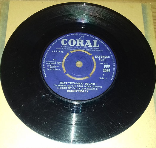 """Buddy Holly - That 'Tex-Mex' Sound (7"""", EP) (Coral)"""