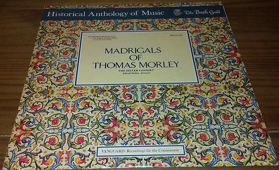 Thomas Morley / The Deller Consort* - Madrigals Of Thomas Morley (LP, Album) (V