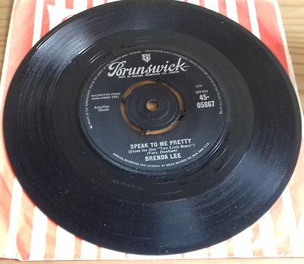 "Brenda Lee - Speak To Me Pretty (7"", Single) (Brunswick)"