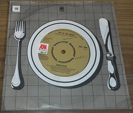 """Carpenters - Top Of The World (7"""", Single) (A&M Records)"""