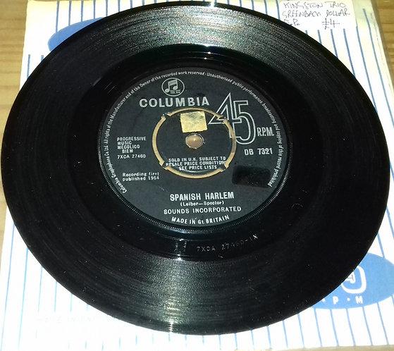 "Sounds Incorporated - Spanish Harlem (7"", Single, Pus) (Columbia)"