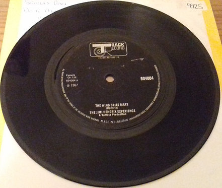 """The Jimi Hendrix Experience - The Wind Cries Mary (7"""", Single, Sol) (Track Recor"""