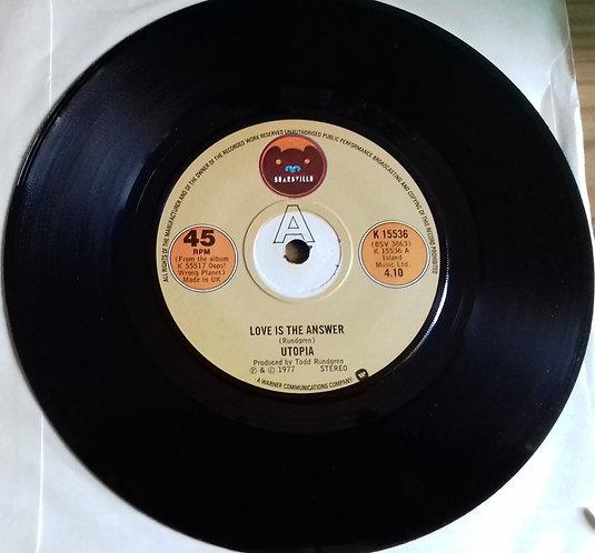 "Utopia  - Love Is The Answer (7"", Single) (Bearsville)"