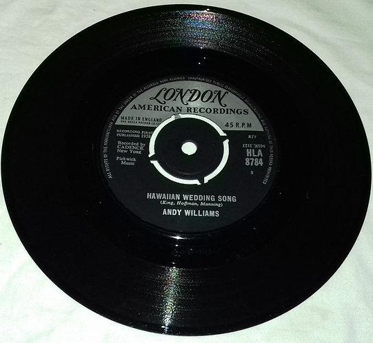 "Andy Williams - Hawaiian Wedding Song (7"", Single, RP, 4-P) (London Records, Lon"