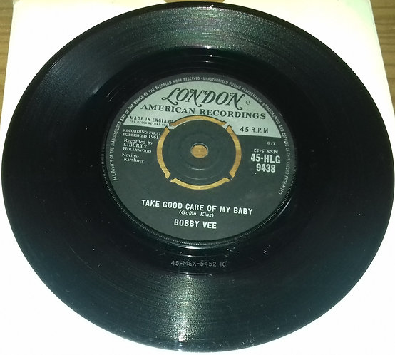 """Bobby Vee - Take Good Care Of My Baby (7"""", Single) (London Records, London Amer"""