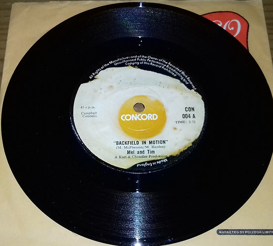"Mel And Tim* - Backfield In Motion / Do Right Baby (7"", Single) (Concord (3))"