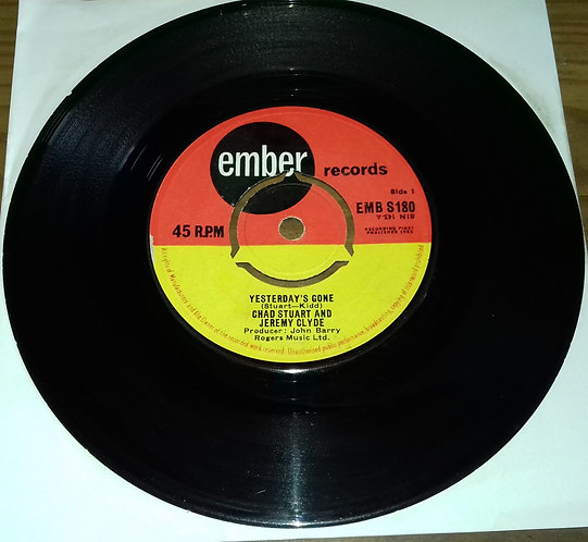 """Chad Stuart And Jeremy Clyde* - Yesterday's Gone (7"""", Single, 3-p) (Ember Recor"""