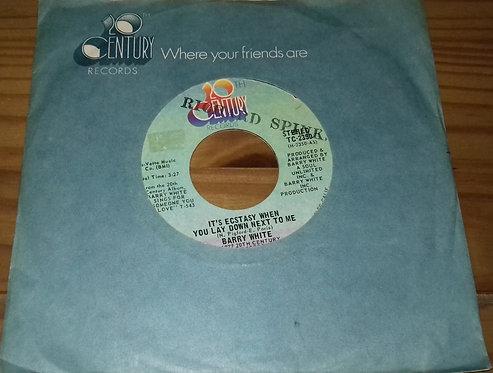 "Barry White - It's Ecstasy When You Lay Down Next To Me (7"", Single, Styrene, Sh"