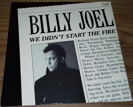 """Billy Joel - We Didn't Start The Fire (7"""", Single, Glo) (CBS)"""