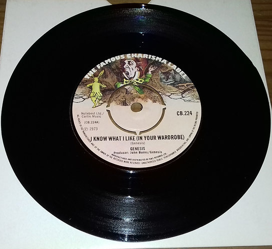 """Genesis - I Know What I Like (In Your Wardrobe) (7"""", Single, 4-p) (Charisma)"""
