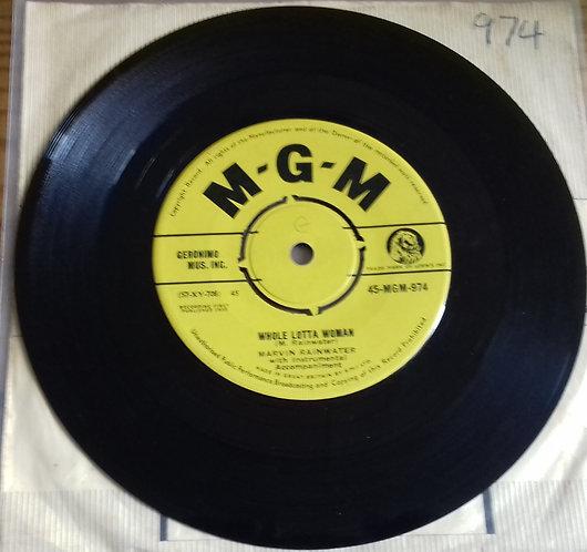 "Marvin Rainwater - Whole Lotta Woman (7"", Single) (MGM Records)"