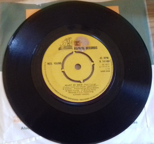 """Neil Young - Heart Of Gold (7"""", Single) (Reprise Records)"""