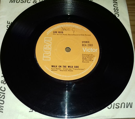 """Lou Reed - Walk On The Wild Side (7"""", Single, Sol) (RCA Victor)"""