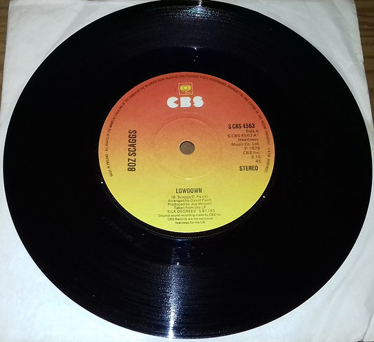 "Boz Scaggs - Lowdown (7"", Single, Sol) (CBS)"