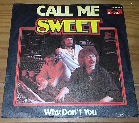 """Sweet* - Call Me (7"""", Single) (Polydor)"""