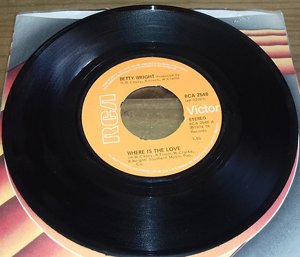 """Betty Wright - Where Is The Love (7"""", Single) (RCA Victor)"""