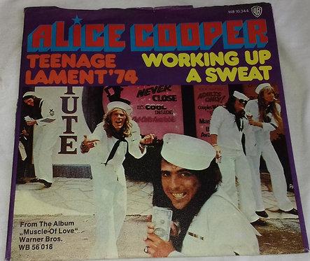 "Alice Cooper - Teenage Lament '74 / Working Up A Sweat (7"", Single, tra) (Warner"