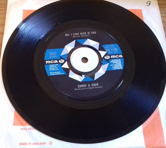 """Sonny & Cher - All I Ever Need Is You (7"""", Single) (MCA Records)"""