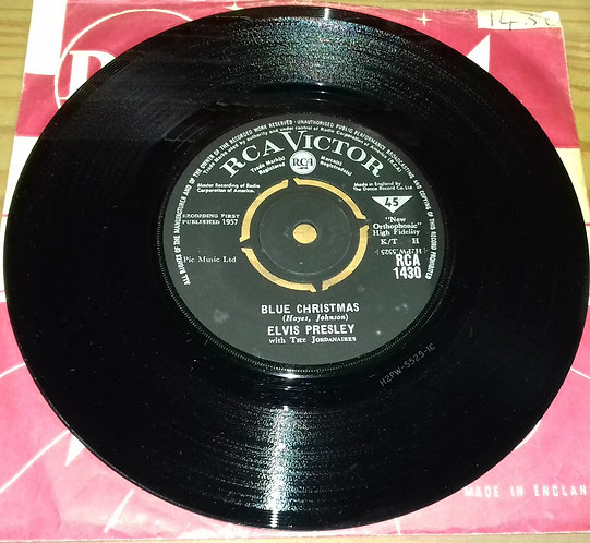 "Elvis Presley With The Jordanaires - Blue Christmas (7"", Single) (RCA Victor)"