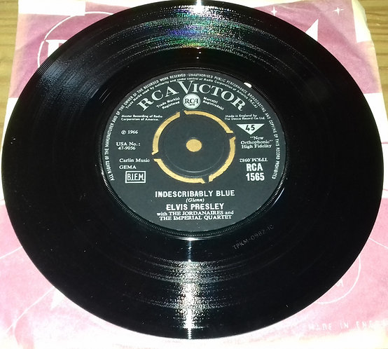 "Elvis Presley With The Jordanaires - Indescribably Blue (7"", Single) (RCA Victo"