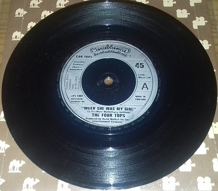 """The Four Tops* - When She Was My Girl (7"""", Single) (Casablanca)"""