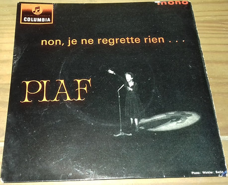 """Edith Piaf* - Non, Je Ne Regrette Rien... (7"""", EP, Mono) (Columbia)"""