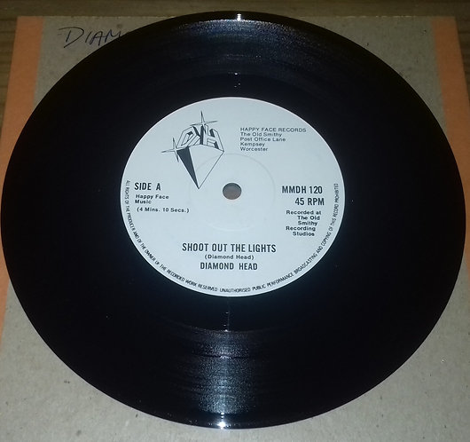 """Diamond Head  - Shoot Out The Lights (7"""", Single) (Happy Face Records)"""