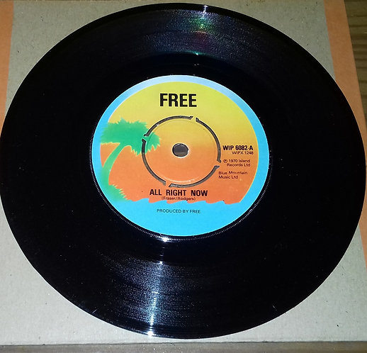 """Free - All Right Now (7"""", RE) (Island Records)"""