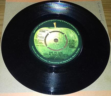 "George Harrison - Give Me Love (Give Me Peace On Earth) (7"", Single) (Apple Rec"