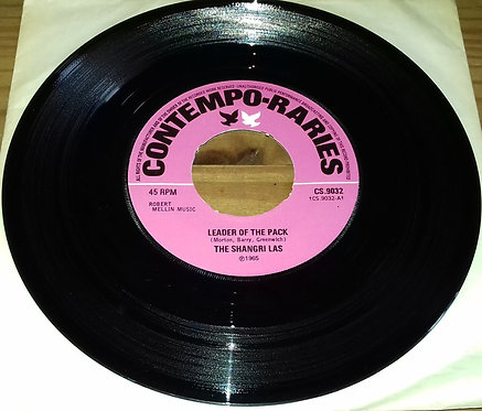"""The Shangri Las* - Leader Of The Pack (7"""", Single, RE, Pus) (Contempo-Raries)"""