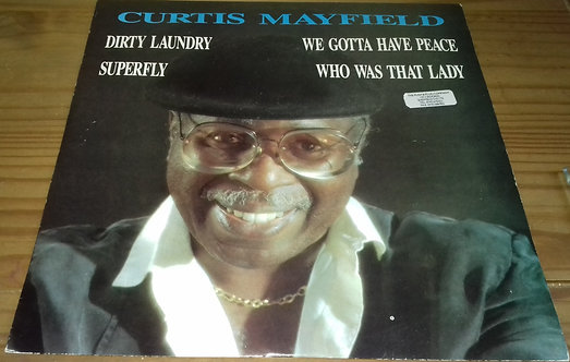 "Curtis Mayfield - Dirty Laundry (12"", Single) (Curtom)"