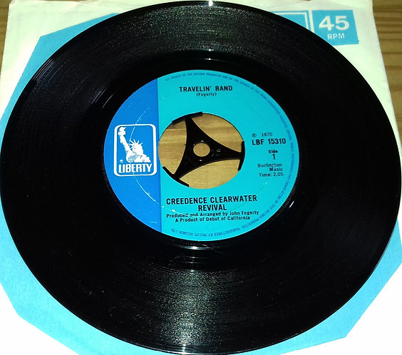 """Creedence Clearwater Revival - Travelin' Band (7"""", Single) (Liberty)"""