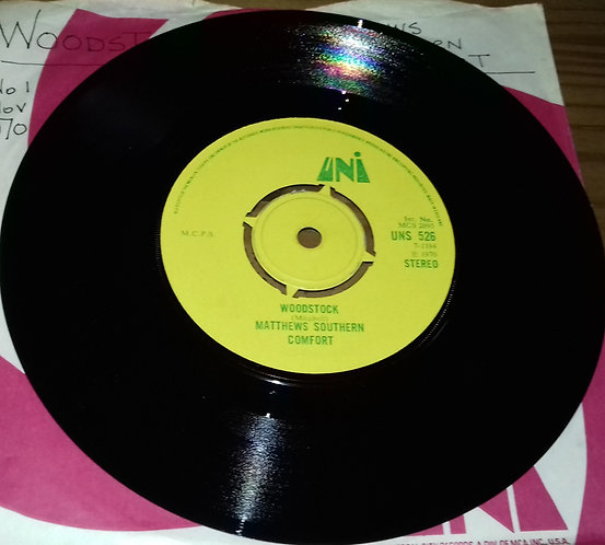 "Matthews Southern Comfort* - Woodstock (7"", Single) (UNI Records)"