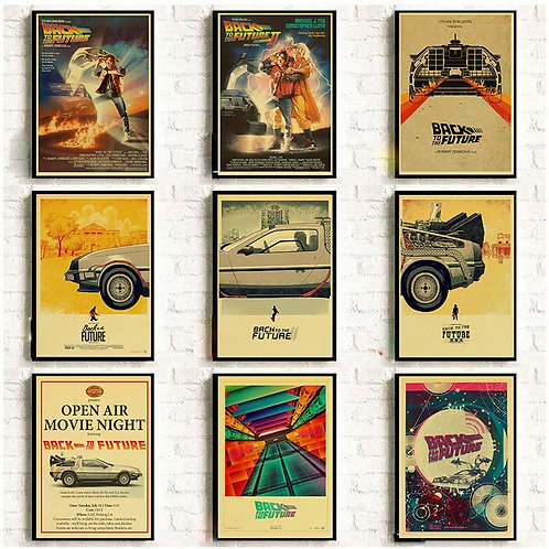 Classic Movie Back to the Future  Vintage Posters  High Quality Wall Sticker