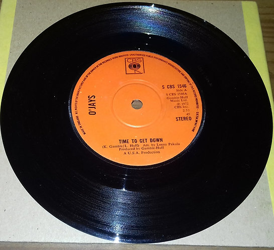"""O'Jays* - Time To Get Down (7"""", Single) (CBS)"""