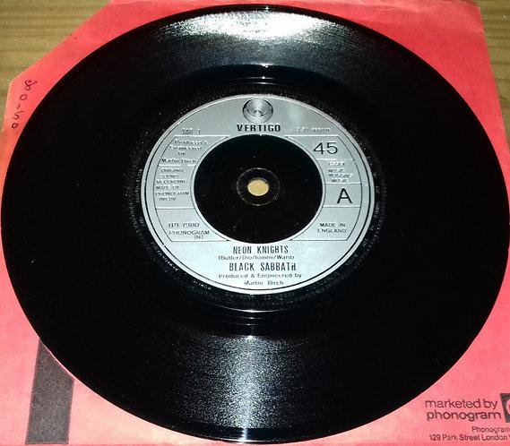 """Black Sabbath - Neon Knights (7"""", Single) (Vertigo)"""