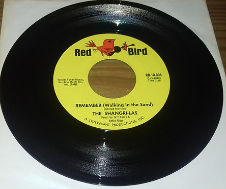 """The Shangri-Las - Remember (Walking In The Sand) (7"""") (Red Bird)"""