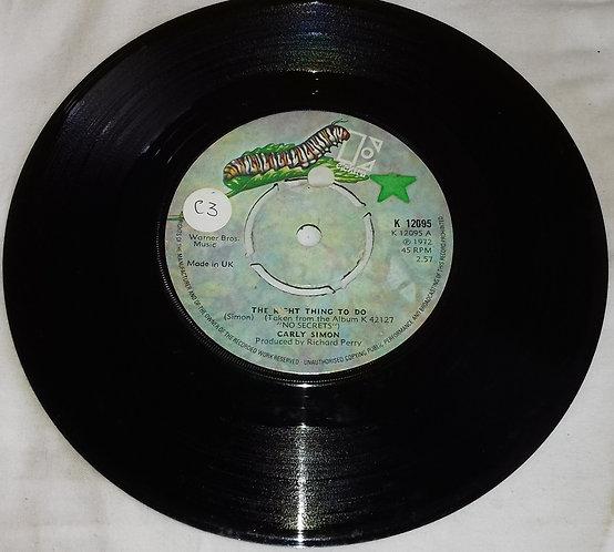 "Carly Simon - The Right Thing To Do (7"", Single, Kno) (Elektra)"