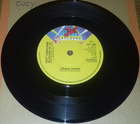 "Ozzy Osbourne, Blizzard Of Ozz - Crazy Train (7"", Single) (Jet Records)"