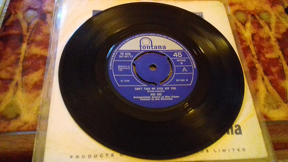 "Kiki Dee - Can't Take My Eyes Off You / Hungry Heart (7"", Single) (Fontana, Font"