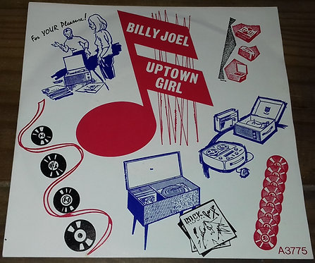 """Billy Joel - Uptown Girl (7"""", Single, Pap) (CBS, Family Productions)"""