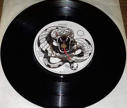 """David Coverdale's Whitesnake* - Snakebite (7"""", EP) (Sunburst)"""